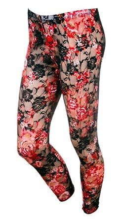Fashion Women Sexy Translucent Long Sleeve Leggings