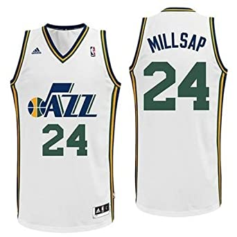 Paul Millsap Utah Jazz White NBA Youth Swingman Revolution 30 Jersey by adidas
