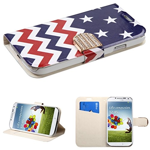 Mybat Myjacket Wallet Cover With Diamante Belt For Samsung Galaxy S4 - Retail Packaging - Starswave