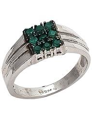 925 Sterling Silver Natural Green Onyx Gemstone 's Ring For Men - B00VJZGGM6