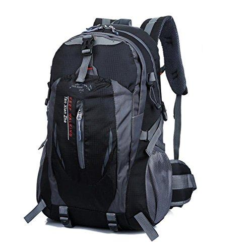 40L-Hiking-Backpack-Hansee-Waterproof-Nylon-Travel-Luggage-Rucksack-Backpack-Bag-RedOrangeHot-PinkGreenDark-BlueBlueBlackArmy-Green