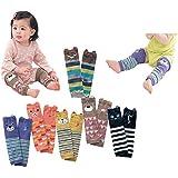 Luckystaryuan ® High Quality Set of 6 Combed cotton Baby Cartoon Bear Kneepads Socks Leg Protector Warmer