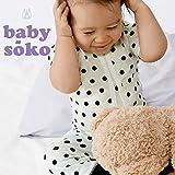 短肌着 半袖 ユニセックス 男の子 新生児肌着 ベビー肌着 下着(50cm 60cm)送料込み 出産準備、お祝い プレゼント 黒 クロ ブラック babysoko(ベビーソーコ)ブラックドット(スモール)短肌着