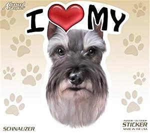 AGI I Love My Schnauzer Dog 4
