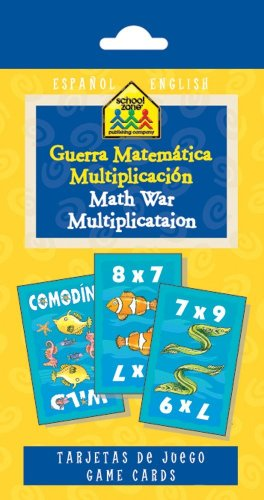 Math War Multiplication Game Cards (Spanish Edition)