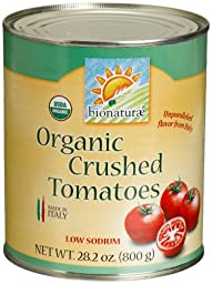 bionaturae Organic Crushed Tomatoes, 28.2 Ounce Tins (Pack of 12)