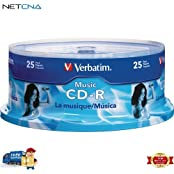 Music CD-R 700MB Recordable Compact Disc Spindle Pack Of 25 And Free 6 Feet Netcna HDMI Cable - By NETCNA