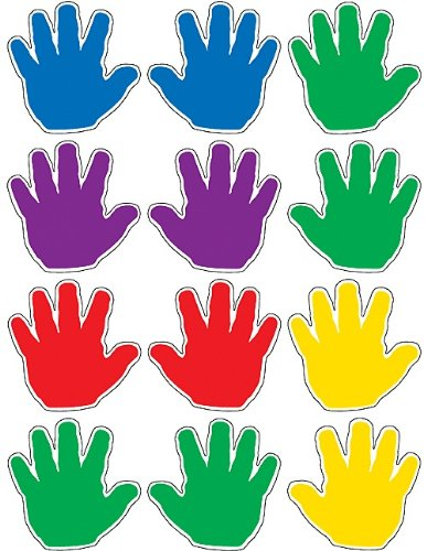 Teacher Created Resources Handprints Mini Accents (5137)