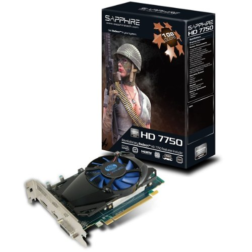 SAPPHIRE Radeon ビデオカード HD7750 1G GDDR5 PCI-E HDMI/DVI-I/DP SAHD775-1GD5R0