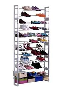The Amelda 60 Pair Shoe Rack Organizer - Made in USA
