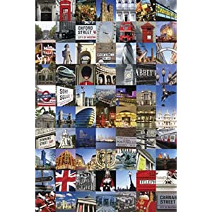 Poster de Londres en Photocollage