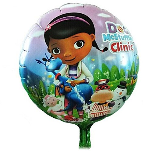 10pcs/lot Doc Mcstuffins Balloons 18 Inch Helium Foil Balloons for Kids Birthday Party Decoration - 1