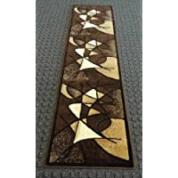 Modern Runner Rug Design # G24 Chocolate