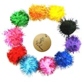 "Rimobul Assorted Color Sparkle Balls My Cat's All Time Favorite Toy - 1.5"" - 20 Pack"