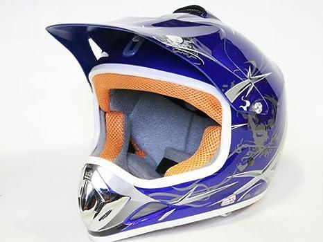 XTreme sport enfants casque cross taille l (bleu) et de motocross offroad quad bike neuf