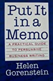 PUT IT IN A MEMO PA (0395576482) by Helen Gorenstein
