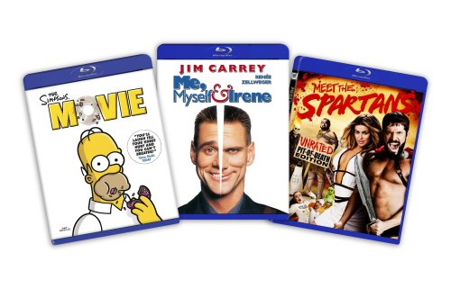 Blu-ray Comedy Bundle (Simpsons the Movie / Me, Myself and Irene / Meet the Spartans) - (Amazon.com Exclusive)