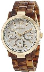 Womens Brown Watch Faux Tortoise Bracelet Gold Tone Case Jade LeBaum - JB202740G