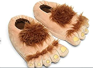 Lanarea Comfortable Novely Warm Winter Hobbit Feet Sliper For AdultPair