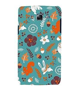 Rabbit Flowers Grass 3D Hard Polycarbonate Designer Back Case Cover for Samsung Galaxy J5 (2015) :: Samsung Galaxy J5 J500F (Old Version)