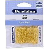 Beadalon Chain Figaro Medium Gold Plated, 2-Meters