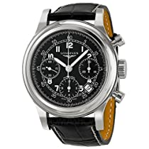 Longines Heritage Chronograph Black Dial Mens Watch L27454534