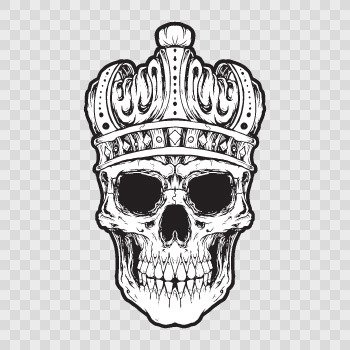 King Skull... Color print (20 X 11.9 inch) ZE599