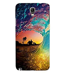 ColourCraft Beautiful Water Waves Design Back Case Cover for SAMSUNG GALAXY NOTE 3 NEO N7505