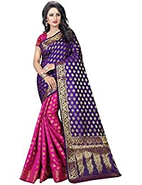 Vatsla Enterprise Women's Cotton Silk Saree (VSAMURAI006PURPLE_PURPLE)