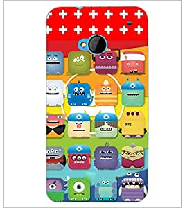 PrintDhaba Cartoon D-2812 Back Case Cover for HTC ONE M7 (Multi-Coloured)