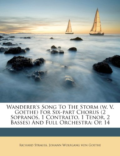 Wanderer'S Song To The Storm (W. V. Goethe) For Six-Part Chorus (2 Sopranos, 1 Contralto, 1 Tenor, 2 Basses) And Full Orchestra: Op. 14 front-965186