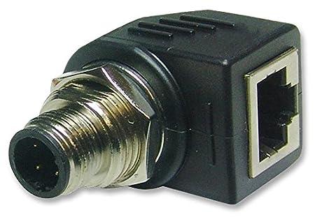 Connecteurs-modulaire-Adaptateur prise m12à RJ45r/A-rjs-12d04fm-rs8001
