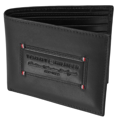 Tommy Hilfiger Mens Genuine Leather Passcase Billfold Wallet