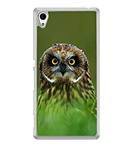Owl 2D Hard Polycarbonate Designer Back Case Cover for Sony Xperia Z4