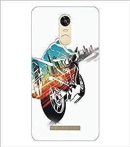 PrintDhaba Bike D-5361 Back Case Cover for XIAOMI REDMI NOTE 3 (Multi-Coloured)