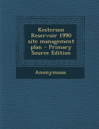 Kesterson Reservoir 1990 site management plan