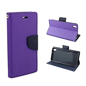 Relax And Shop Wallet Style Flip Cover For Samsung Galaxy A8 - (Orchid Purple)