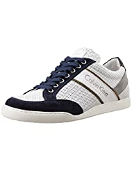 Calvin Klein Men's White And Navy Blue Gore-Tex Sneakers - B012NXAWCC