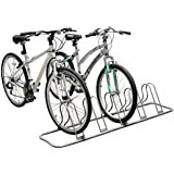 DecoBros Adjustable 5 Bike Floor Parking Rack Storage Stand, Silver