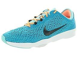 Nike Women\'s Zoom Fit Blue Lagoon/Dark Grey/Cp/White Training Shoe 5.5 Women US