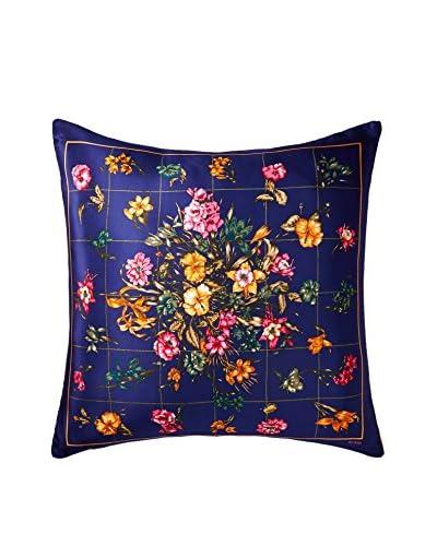 Bill Blass Floral Scarf Pillow, Navy/Multi