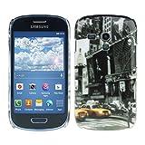 Kwmobile® Hard case City design (New York) for Samsung Galaxy S3 Mini i8190 in Black Yellow etc.