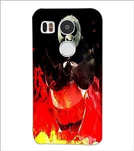 PrintDhaba Panda D-4386 Back Case Cover for LG NEXUS 5X (Multi-Coloured)