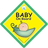Baby on Board Sign, Peapod, Baby On Board Car Sign, Car Safety Sign, Green Pea Pod, Baby on Board, Maternity, Unisex Baby on Board, Unisex Car Sign, Baby Car Sign, Baby Sign, Maternity, Pregnacy, Bumper Sticker, Decal, Grandchild On Boardby iwantthatsign.com