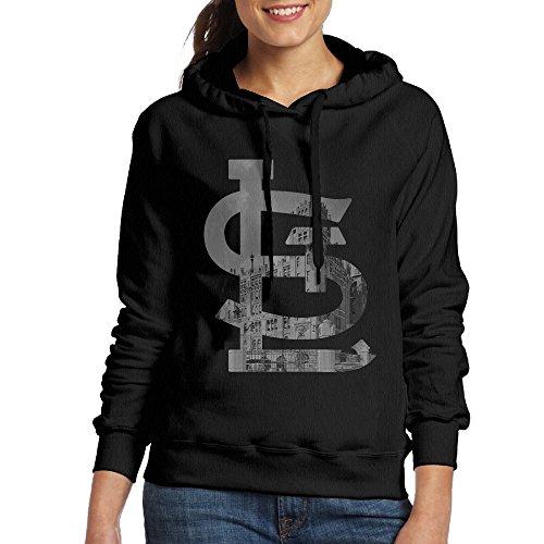 DVPHQ Women's Funny St.Louis SLC Cardinals Hooded Sweatshirt Size M Black