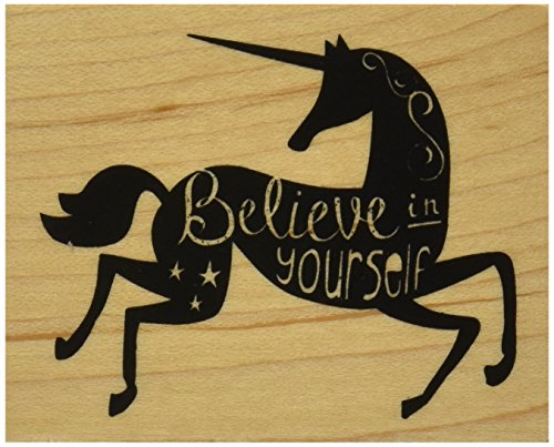 "Inkadinkado Believe in Yourself Mounted Rubber Stamp, 2.25"" by 2.75"""
