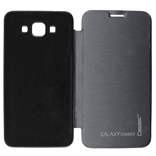 Casotec Premium Flip Case Cover for Samsung Galaxy Grand Max - Black