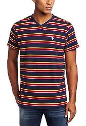 U.S. Polo Assn. Men's Striped V-Neck T-Shirt