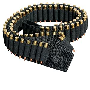 """Ultimate Arms Gear Tactical Stealth Black 180 Round Rifle Ammo Shot Shell Cartridge Hunting Shoulder Bandolier Bandoleer Carrier Holder 60"""" Long Fits .223 223 5.56 556 AR15 AR-15 M4 M16 Armalite Dpms Stag Savage Arms"""