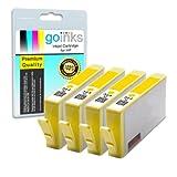 4 Compatible Yellow HP 364 XL (HP364Y) Printer Ink Cartridges for HP Photosmart 5510, 5510, 5512, 5514, 5515, 5520, 5524, 6510, 6520, 7510, 7520, B010a, B109a, B109c, B109d, B109f, B109n, B109q, B110a, B110c, B110d, B110e, B8550, B8553, C5380, C5383, C53